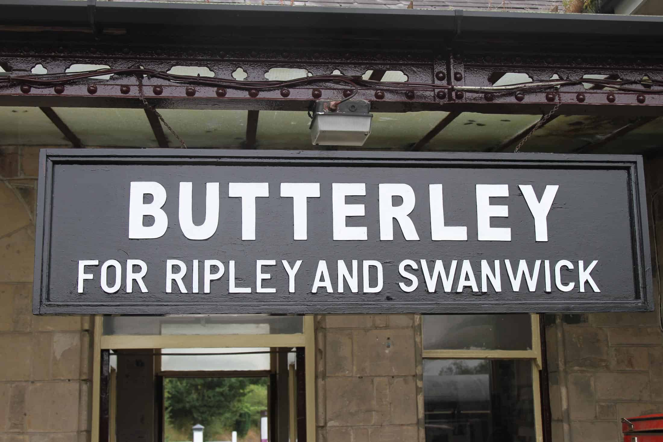 Butterley Station Sign