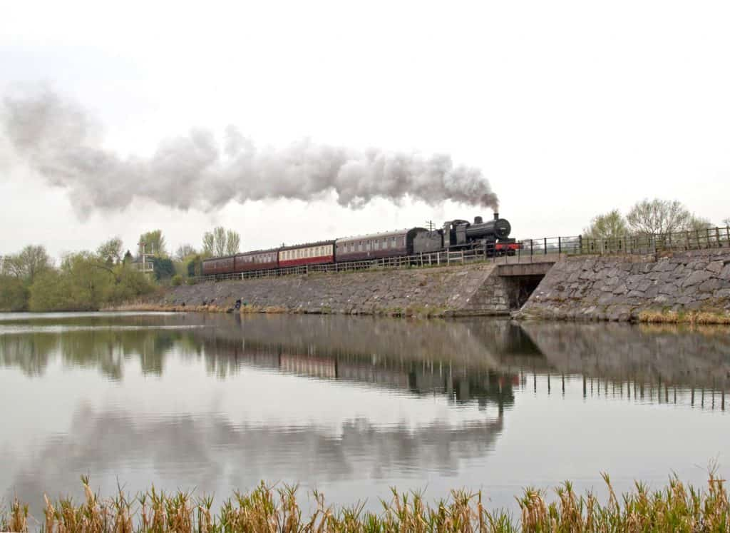 Steam Locomotive by Reservoir