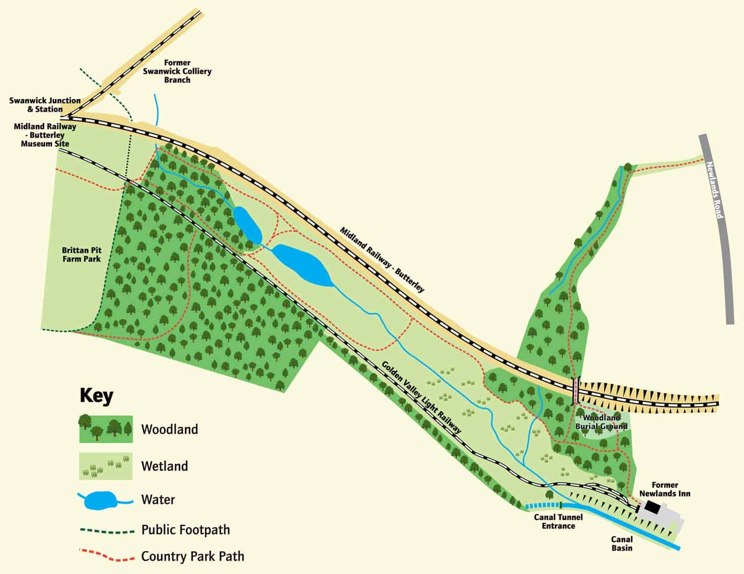 Butterley Country Park Map